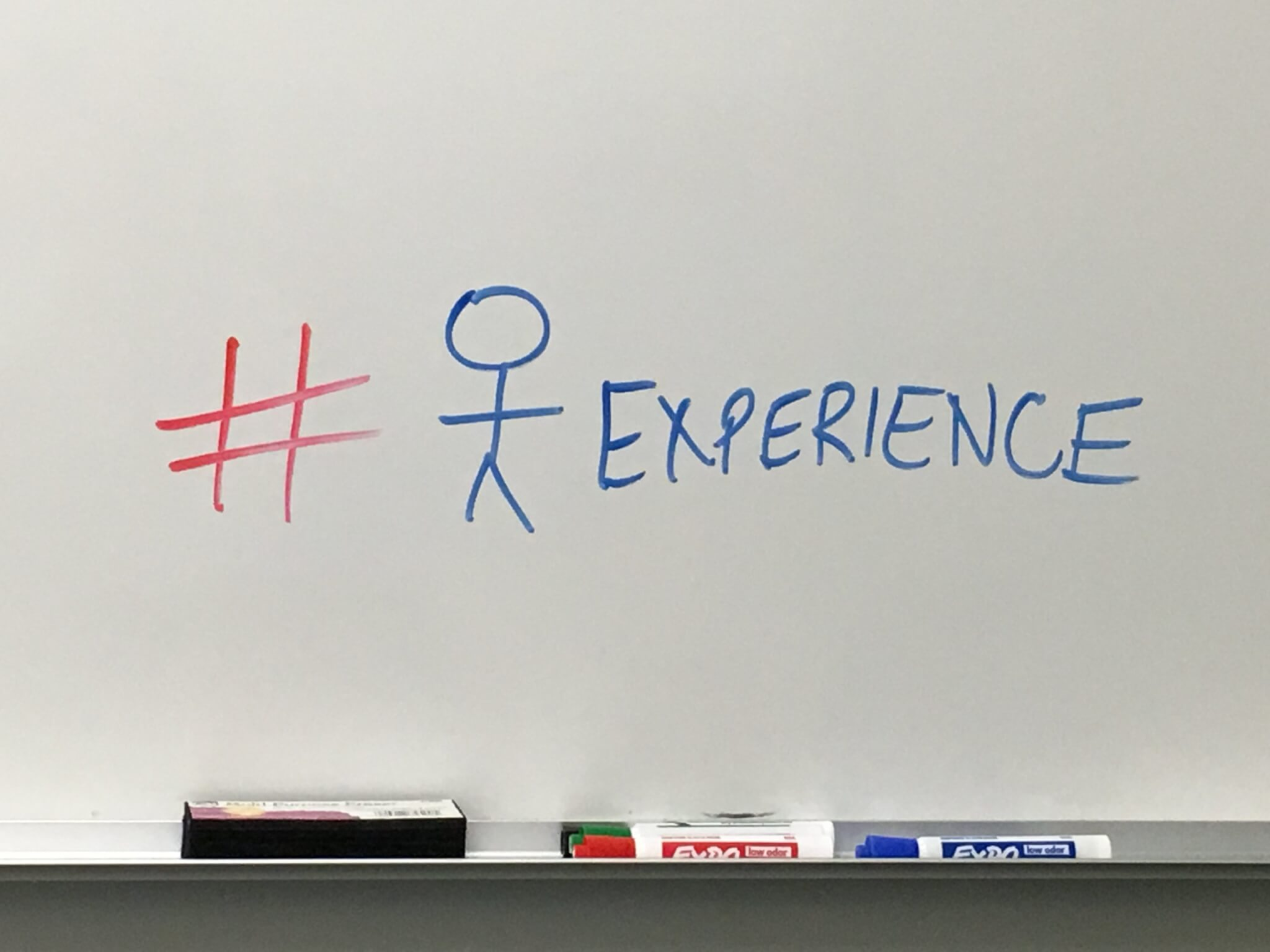 whiteboard hashtag experience