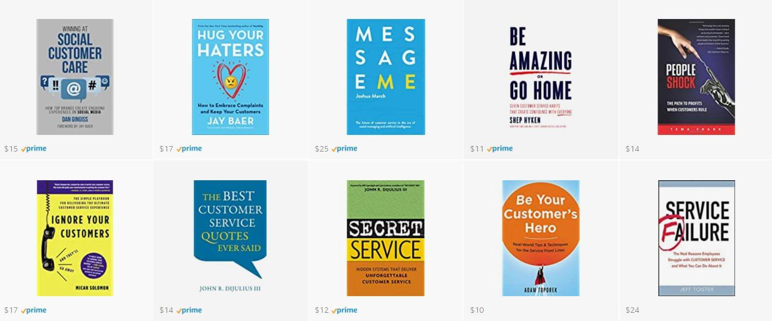 Customer service books