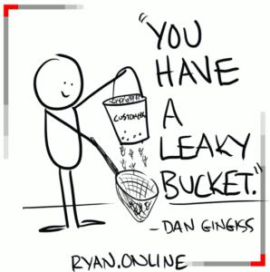leaky bucket cartoon
