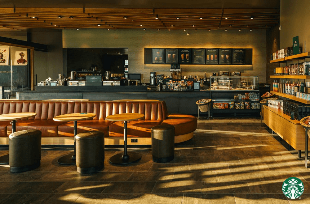Inside a Starbucks store