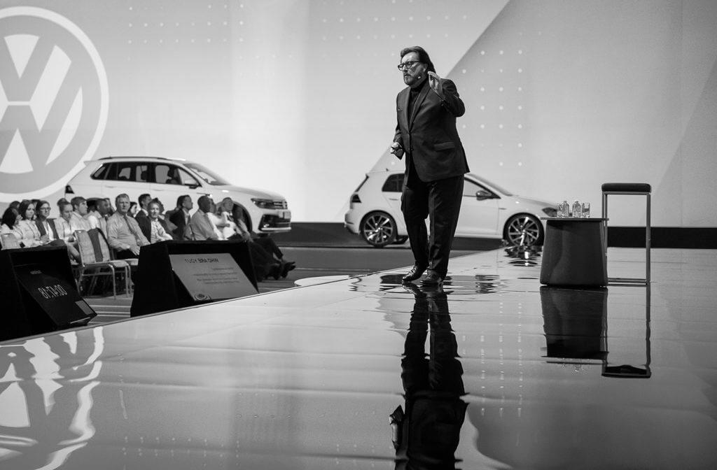 Scott McKain speaking to Volkswagen